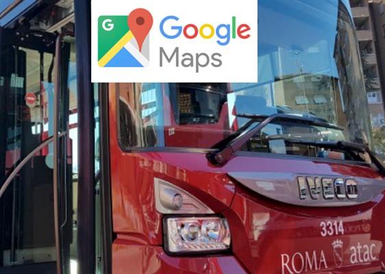 Mezzi pubblici sotto controllo con Google Maps a Roma