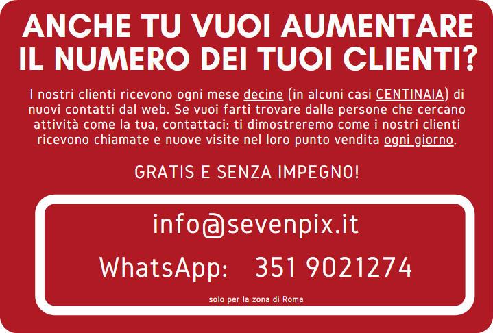 anche tu vuoi aumentare il numero dei tuoi clienti a roma_rounded_corners