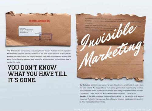 Cosa significa 'Invisible Marketing'?